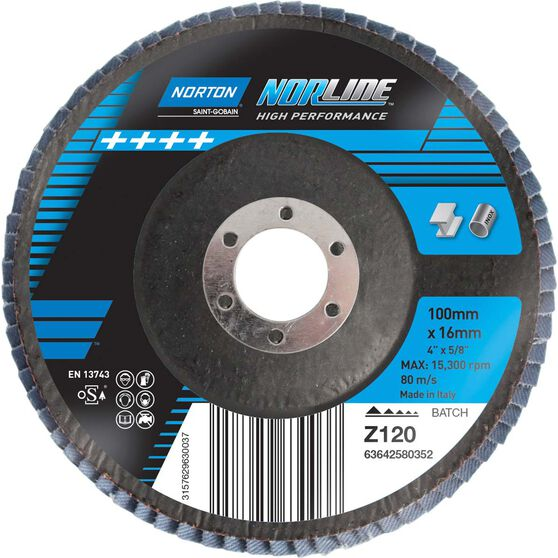 Norton Flap Disc - 120 Grit, 100mm, , scanz_hi-res