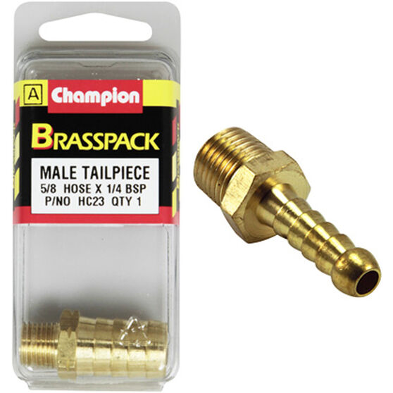 Champion Male Hose Barb - 5 / 8inch X 1 / 4inch, Brass, , scanz_hi-res