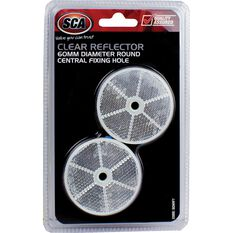 Reflector - Round, 60mm, Clear, 2 Pack, , scanz_hi-res
