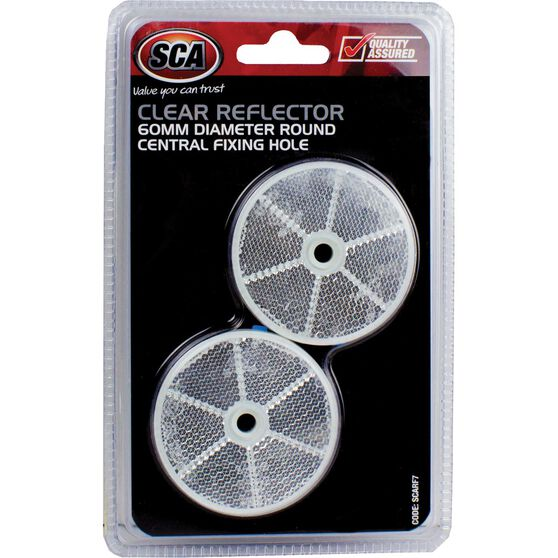 SCA Reflector - Clear, 60mm, Round, 2 Pack, , scanz_hi-res