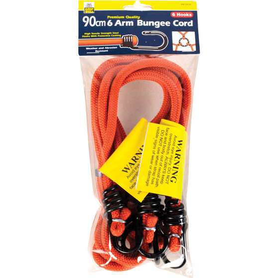 Gripwell Metal Hook Bungee Cord - 90cm, 2 Pack, , scanz_hi-res