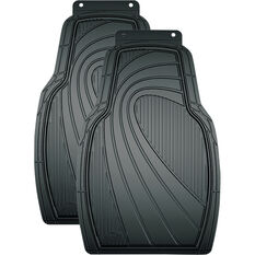 Armor All Car Floor Mats Rubber Black Front Pair, , scanz_hi-res