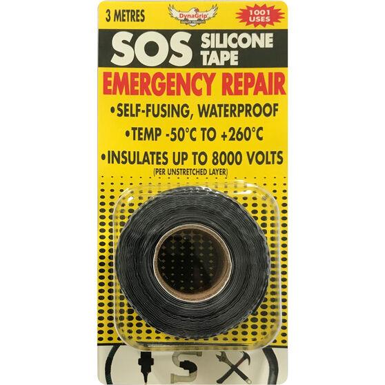 DynaGrip SOS Silicone Tape - Black, 3m x 25mm