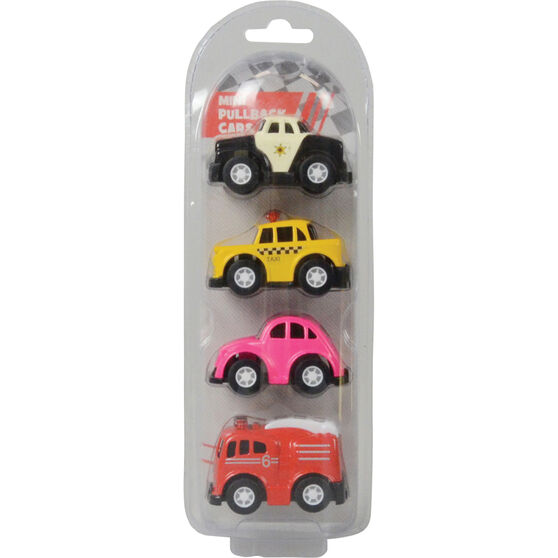 Pull back Alloy mini vehicles - 4 pack, , scanz_hi-res
