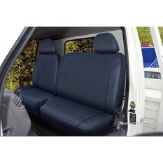 SCA Canvas Ute Seat Covers - Charcoal/Grey, Size 401, Front Bucket and Bench (with cut out), , scanz_hi-res