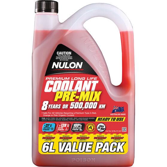 Nulon Red Premium Long Life Coolant Premix 6 Litre, , scanz_hi-res