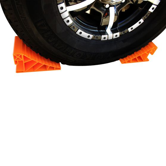 Caravan Wheel Chock - Orange, Pair, , scanz_hi-res
