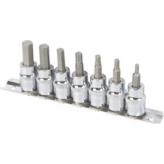SCA Hex Bit Socket Set - 3 / 8in Drive, Imperial, 7 Pieces, , scanz_hi-res