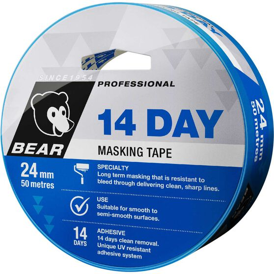 Norton 14 Day Masking Tape - Blue, 24mm x 50m, , scanz_hi-res