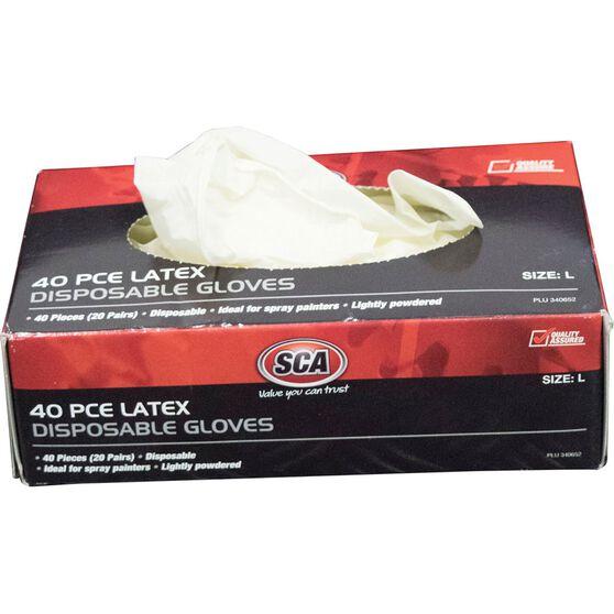 Work Gloves - Latex, Large, 40 Pack, , scanz_hi-res