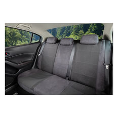 SCA Premium Jacquard & Velour Seat Covers - Charcoal Adjustable Zips Rear Seat Size 06H, , scanz_hi-res