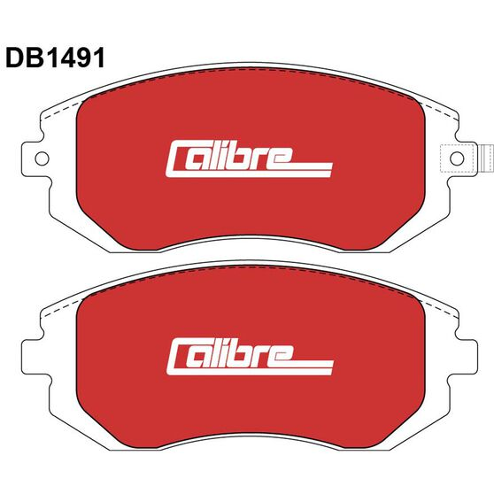 Calibre Disc Brake Pads - DB1491CAL, , scanz_hi-res