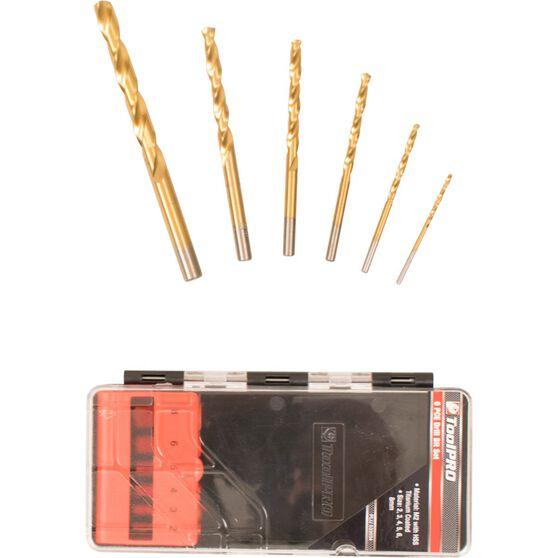 ToolPRO Tin Coated Drill Bit Set - 6 Piece, , scanz_hi-res