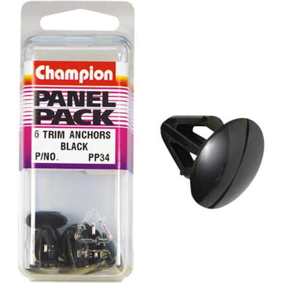 Champion Trim Clips - Black, Panel Pack, , scanz_hi-res