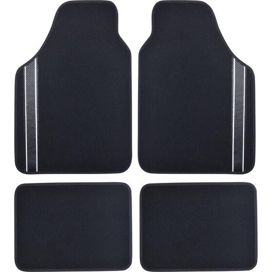 SCA Racing Car Floor Mats - Carpet, Black, Set of 4, , scanz_hi-res