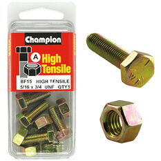 Champion High Tensile Bolts and Nuts - UNF 3 / 4inch X 5 / 16inch, , scanz_hi-res