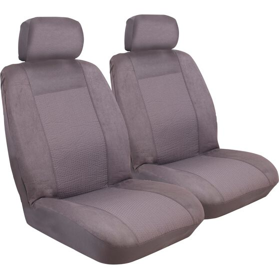 Imperial Seat Covers - Charcoal, Front Pair, Adjustable Headrests, Size 30, , scanz_hi-res
