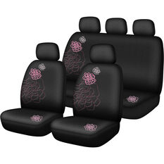 SCA Rose Seat Cover Pack - Pink Adjustable Headrests Size 30 and 06H Airbag Compatible, , scanz_hi-res