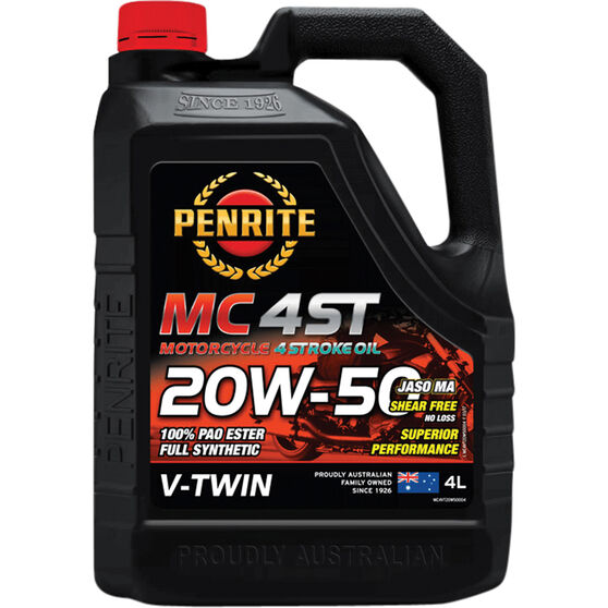 Penrite MC-4 V Twin Motorcycle Oil - 20W-50, 4 Litre, , scanz_hi-res