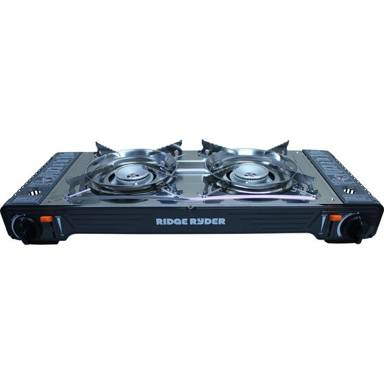 Ridge Ryder Butane Stove - Double Burner, Steel Plate, , scanz_hi-res