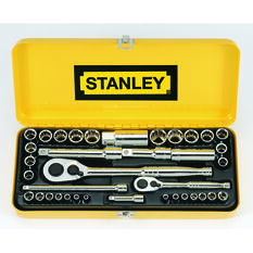 "Stanley Socket Set 1/4"" & 1/2"" Drive Metric/SAE 37 Piece, , scanz_hi-res"
