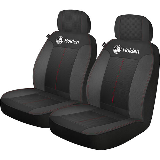 Holden Houston Seat Covers - Black/Red, Adjustable Headrests, Size 30, Airbag Compatible, , scanz_hi-res