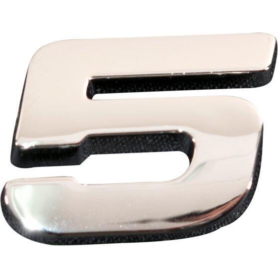 SCA 3D Chrome Badge Number 5, , scanz_hi-res