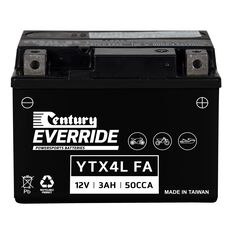 Century Powersports Battery YTX4L-BS FA, , scanz_hi-res
