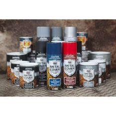 SCA Metal Cover Enamel Rust Paint - Matt Black, 300g, , scanz_hi-res