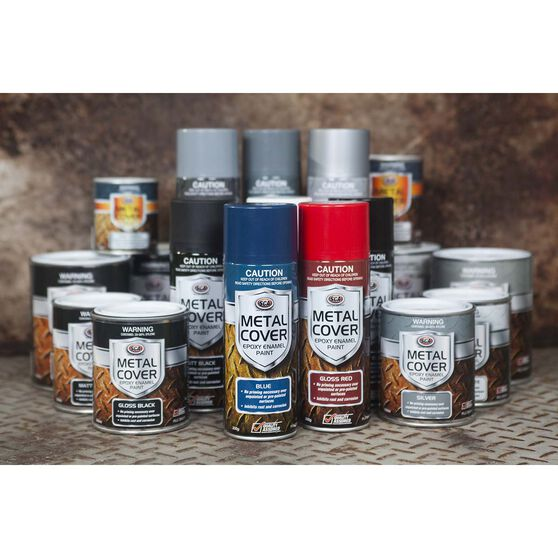 Metal Cover Rust Paint - Enamel, Silver, 500mL, , scanz_hi-res