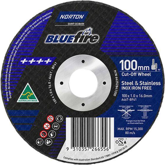 Norton Metal Cut off Disc 100mm x 1.0mm x 16mm, , scanz_hi-res