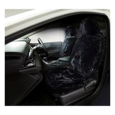 Gold Cloud Sheepskin Seat Covers - Black Adjustable Headrests Size 30 Front Pair Airbag Compatible Black, Black, scanz_hi-res