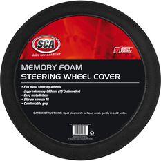 Steering Wheel Cover - Memory Foam, Black, 380mm diameter, , scanz_hi-res