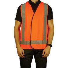 Trafalgar Hi-Vis Day Night Safety Vest Orange Large, , scanz_hi-res