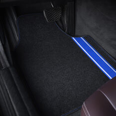 SCA Racing Car Floor Mat - Carpet, Black / Blue, Set of 4, , scanz_hi-res