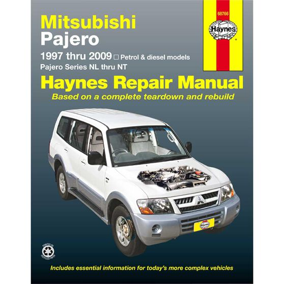 Haynes Car Manual For Mitsubishi Pajero 1997-2014 - 68766, , scanz_hi-res