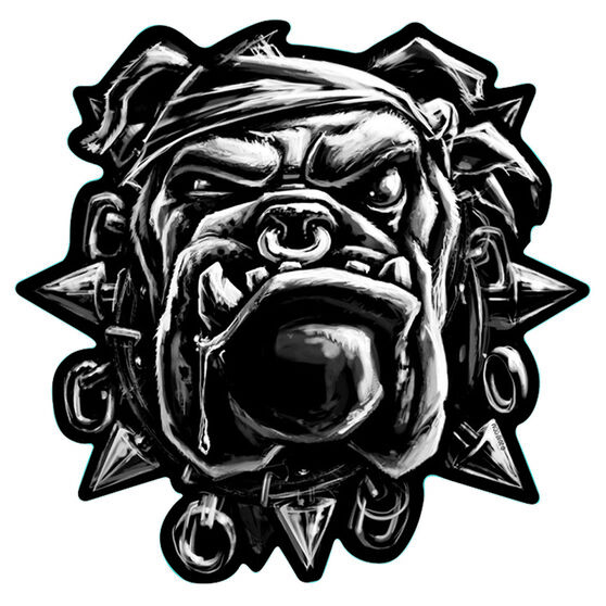 Hot Stuff Sticker - Bulldog, Chrome, , scanz_hi-res