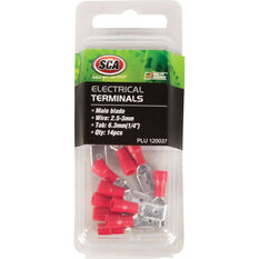 SCA Electrical Terminals - Male Blade, Red, 6.3mm, 14 Pack, , scanz_hi-res