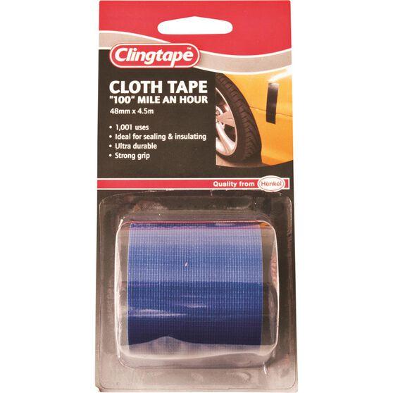 Clingtape Cloth Tape - Blue, 48mm x 4.5m, , scanz_hi-res
