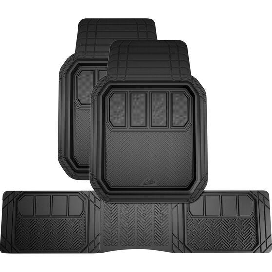 Armor All Deep Dish Car Floor Mats -  Black Set of 3, , scanz_hi-res