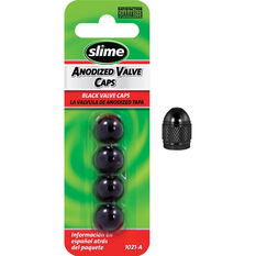 Slime Valve Caps - Anodized, Black, 4 Piece, , scanz_hi-res