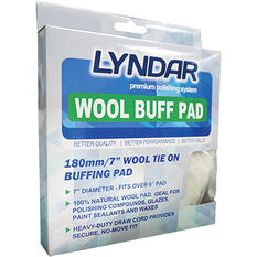 Lyndar Wool Tie On Buffing Pad 180mm, , scanz_hi-res