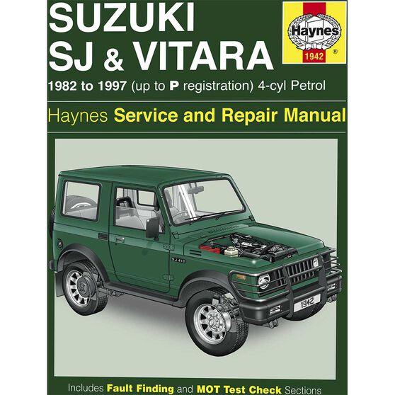 Haynes Car Manual For Suzuki Sierra / Vitara 1982-1997 - 1942, , scanz_hi-res