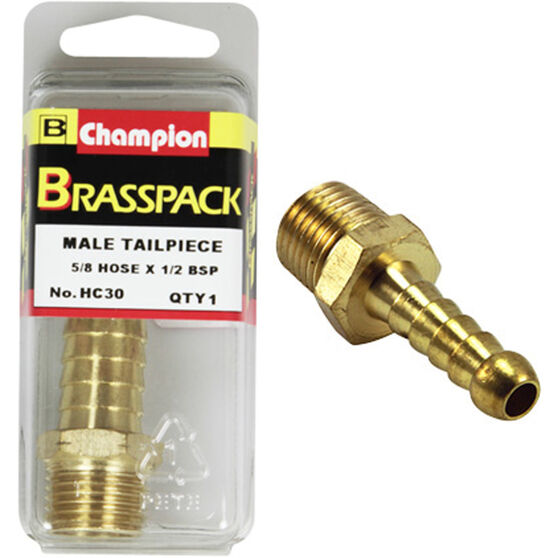 Champion Male Hose Barb - 5 / 8inch X 1 / 2inch, Brass, , scanz_hi-res