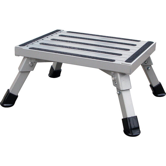 SCA Caravan Folding Step, Aluminium - Medium, , scanz_hi-res
