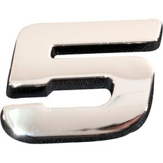 SCA 3D Chrome Badge Number 5, , scanz_hi-res