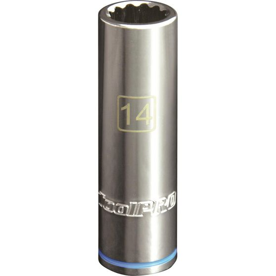 ToolPRO Single Socket - Deep, 1 / 2 inch Drive, 14mm, , scanz_hi-res