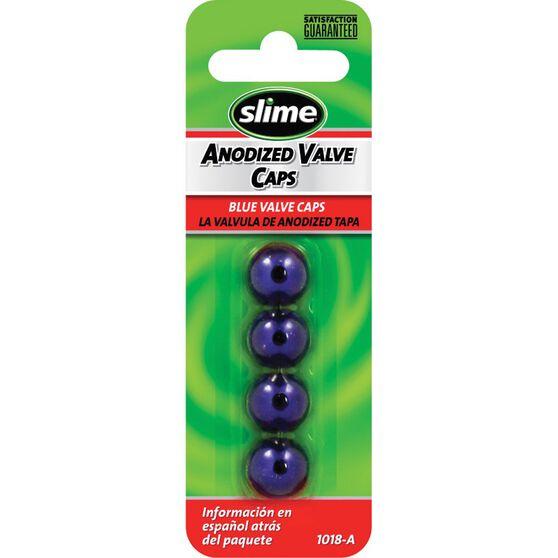 Slime Valve Caps - Anodized, Blue, 4 Piece, , scanz_hi-res