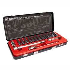 ToolPRO Socket Set - 1 / 2 inch Drive, Metric, 16 Piece, , scanz_hi-res