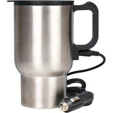 12V Travel Mug - Silver, 350mL, , scanz_hi-res